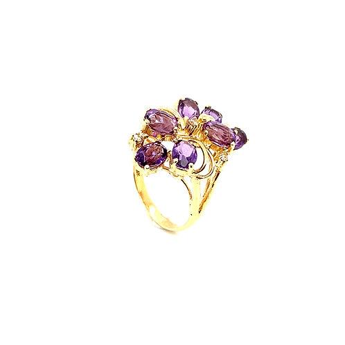 Stunning 14K Gold 0.5 Carat Amethyst Ring