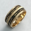 Thumbnail: 14 K Yellow Gold Etched/Enameled Wedding Band