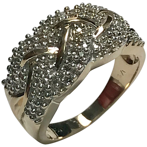 10 K Yellow Gold 0.50 Diamond Cluster Ring