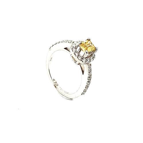 Stunning 14K White Gold IGI Certified I-1 1.40 Carats Diamond Engagement Ring