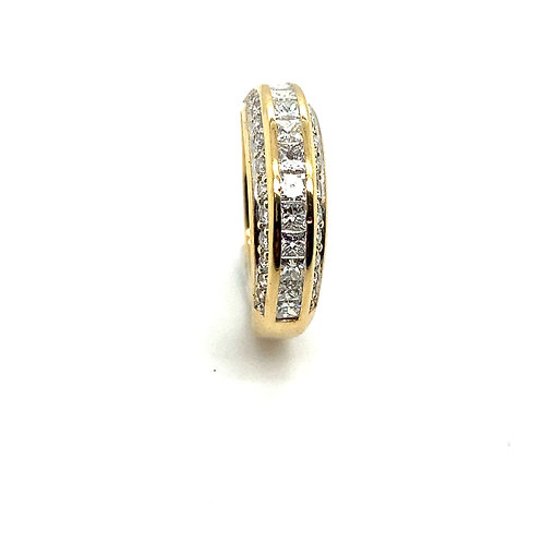Men's Beautiful Handcrafted 14K Yellow Gold & Diamond Wedding Band Ring
