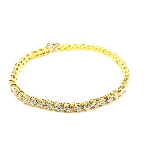 Stunning 14K Gold EGL Certified 4.65 Carats Diamond Bracelet