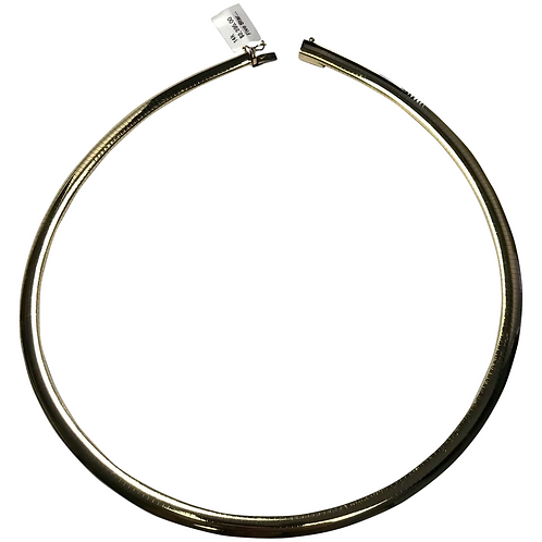 14 k Yellow Gold 6 mm Wide Omega Necklace
