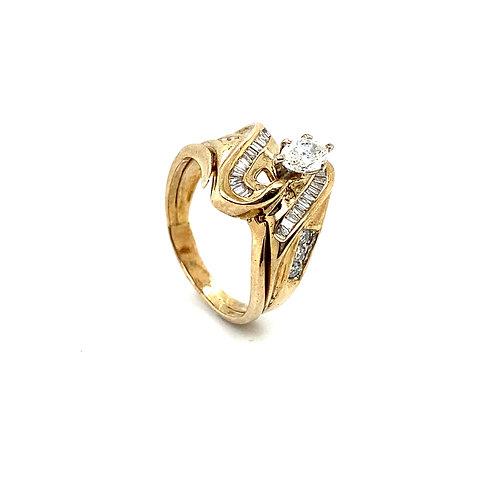 Stunning 14K Gold IGI Certified 1.06 Carats Diamond Engagement Ring