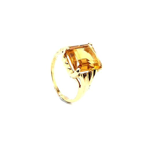 Beautiful 10K Gold 5 Carat Citrine Ring