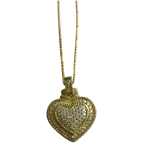18 K Yellow Gold 2.00 Ctw Diamond Enhancer Necklace