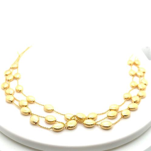 Gorgeous 14k Gold Pebbles Necklace