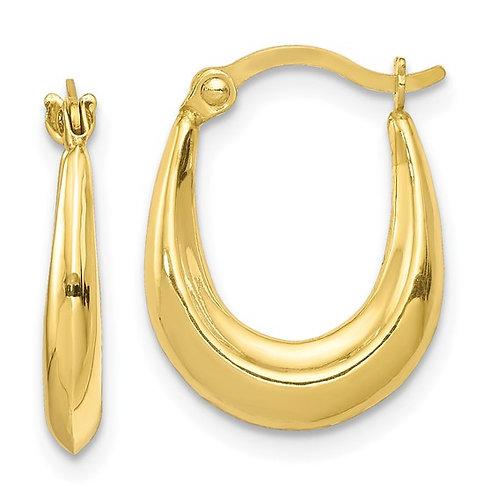 Nice Handcrafted 10K Yellow Gold Hoop Earrings Dainty Sweet Great Gift Idea!