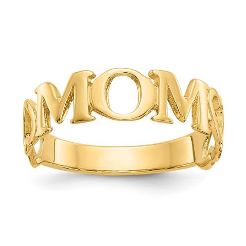 14k Polished Gold MOM Ring Great GIFT IDEA!