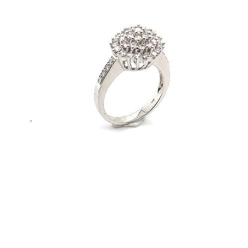 Engagement IGI Certified Diamond and 14K White Gold Ring