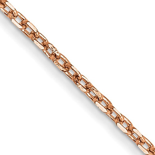 """14k Rose Gold 16"""" Cable Chain 1.0mm 1.12g Perfect for Pendant!"""