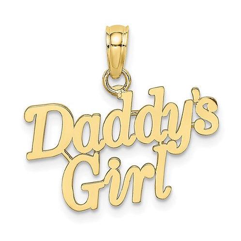 10K Daddys Girl Gold Charm Pendant CUTE!