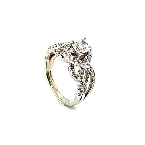 Stunning 14K White Gold IGI 1.50 Carats Diamond Engagement/ Wedding Ring