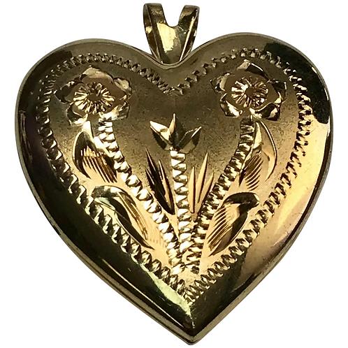 14 k Yellow Gold Filled Heart Locket