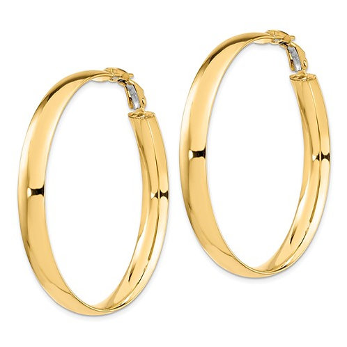 14K Italian Made High Polished Gold Hoop Earrings 6mm 5g GORGEOUS!