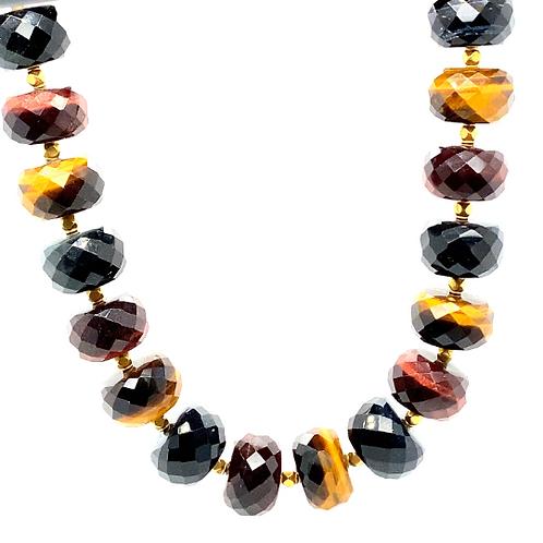 "Gorgeous 18K Tourmaline Beaded Necklace 20"""