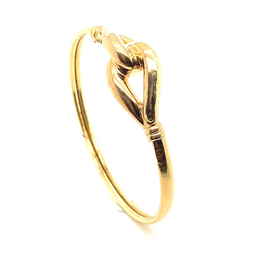 Beautiful Solid 14K Gold Bangle Bracelet