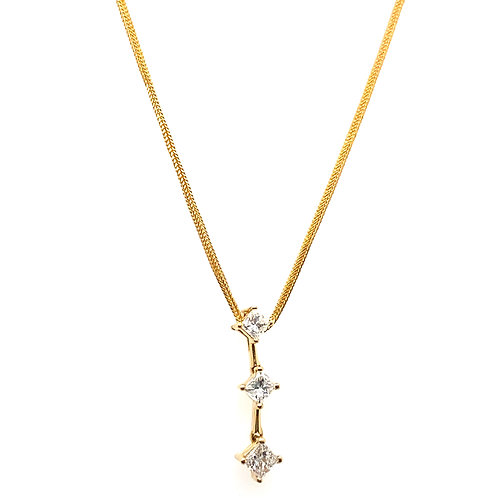 Absolutely Gorgeous BLING! IGI Certified 3 Tier Diamond Drop Pendant & Necklace