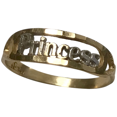 14 K two Tone Gold Princess Ring