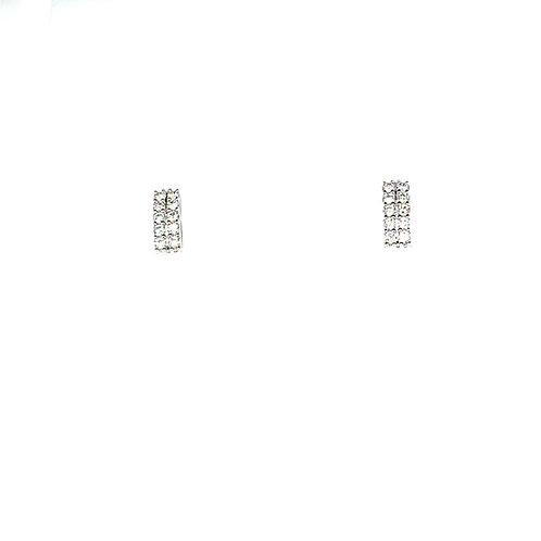 Stunning 18K White Gold 0.60 Carats Diamond Stud Earrings