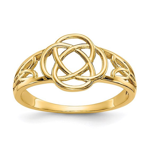 Ladies Handcrafted 14k Yellow Gold Celtic Knot Ring GORGEOUS!