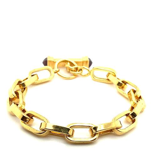 Chunky Link 8mm 18K Gold Bracelet