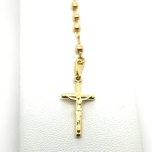 Beautiful 10K Gold Rosary Necklace