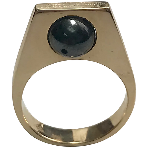 14k Yellow Gold Modernist Tahitian Pearl Ring