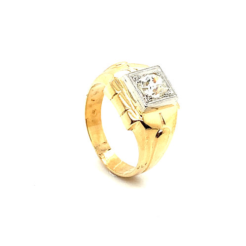 Stunning Men's 14K Solid Gold 1 Carat IGI Certified Diamond Ring
