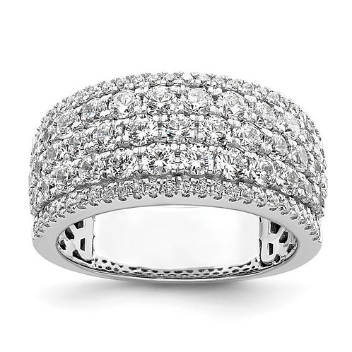 Spectacular Wedding Band! Women's 14k White Gold & Diamond 2ct