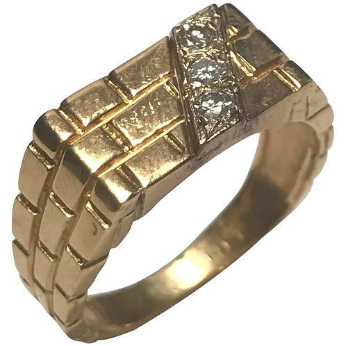 14 K Yellow Gold 0.15 CTW Diamond Ring