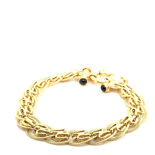 Stunning Design 10mm Bracelet 14K Solid Gold