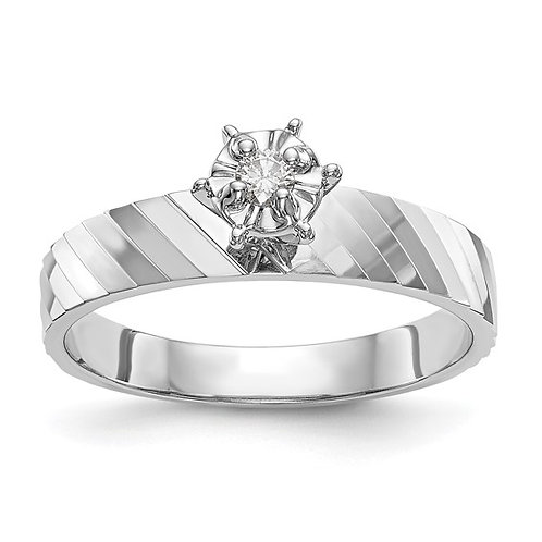 14k White Gold & Diamond Unique Upscale Engagement Ring Absolutely Beautiful!