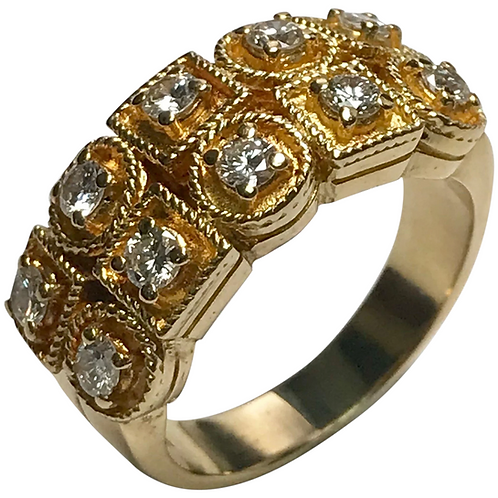 18 k Yellow Gold Diamond Ring