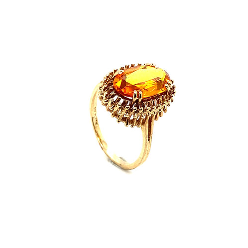 Stunning 14K Gold 5 Carats Citrine Ring
