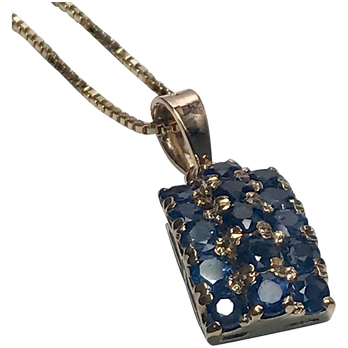 14K Yellow Gold 3.00 CTW Sapphire Necklace