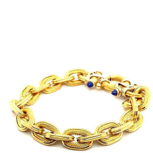 Beautiful Chain Link 10mm 18K Gold Bracelet