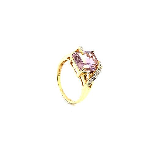 Stunning 10K Gold 3 Carat Amethyst Ring
