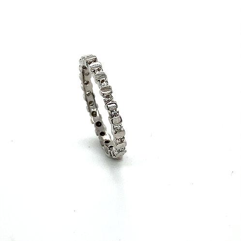 Stunning BLING BLING! .50ct Diamond & 14k White Gold Band Ring