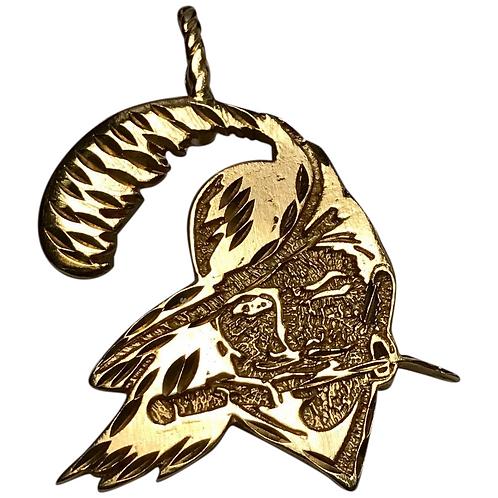 Vintage 14 K Yellow Gold Swashbuckler Pirate Pendant- Retired