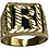 Thumbnail: 10 K Yellow Gold Onyx Initial R Signet Ring