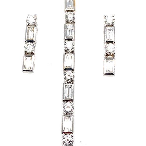 Beautiful Bling Bling! Dripping Diamond Set Bracelet &  Earrings 7ct of Diamonds