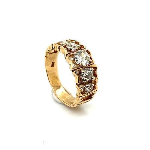 Beautiful Certified Men's Wedding Ring IGI Certified 14K Yellow Gold & Diamond