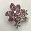 Thumbnail: 14 K White Gold Pink Sapphire, Blue Sapphire, Green Tsavorite & Diamond Flower