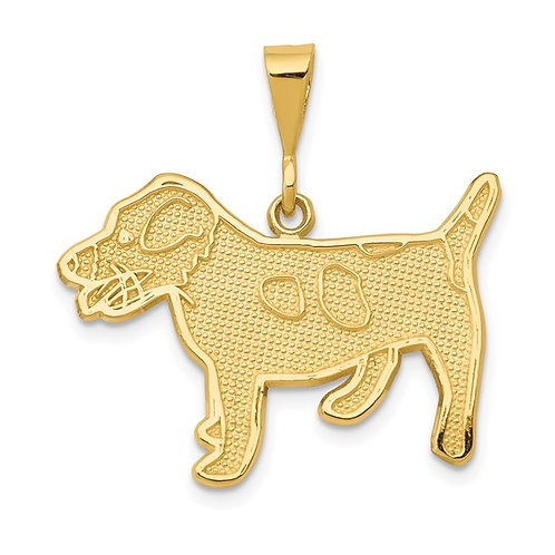 14k Solid Gold Jack Russell Terrier Dog Charm Pendant Super Nice Piece!