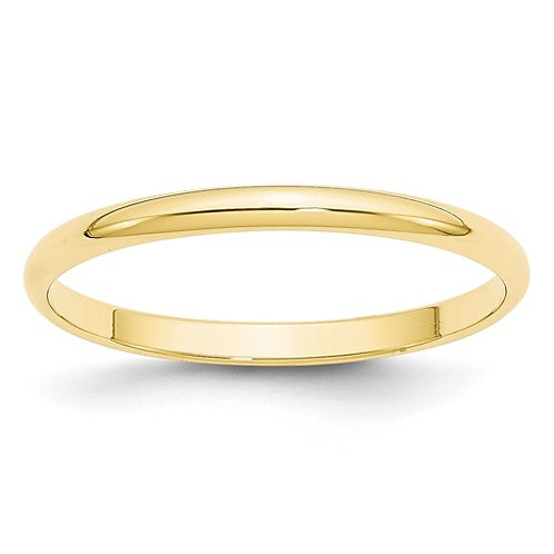 Unisex 10k Polished Yellow Gold Wedding Band 2mm 1.5g NICE!