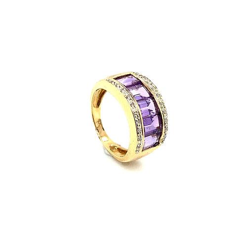 Gorgeous 14K Gold 0.21 Carat Amethyst Ring