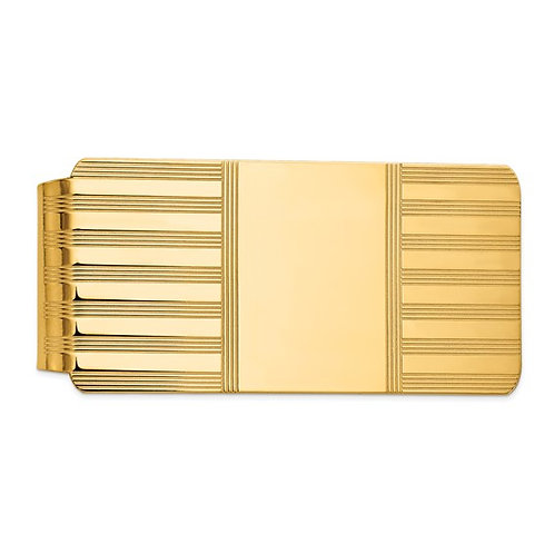 Men's Solid Handcrafted 14k Polished Yellow Gold Money Clip