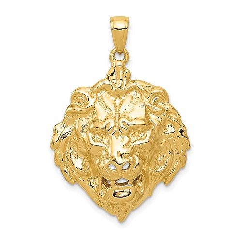 14k Solid Yellow Gold Lion Charm 7g Gorgeous Piece!