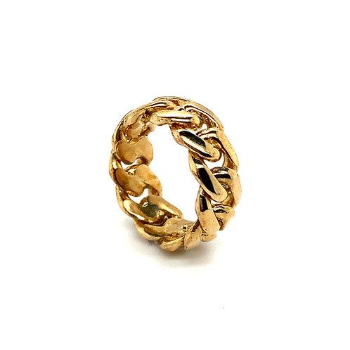 Men's 10K Chain Link Statement Ring